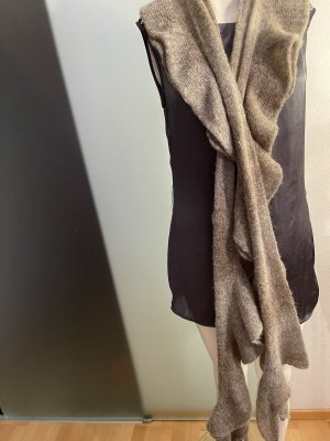 Esprit Sciarpa di lana marrone-grigio-grigio