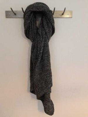 Pieces Écharpe en tricot gris foncé