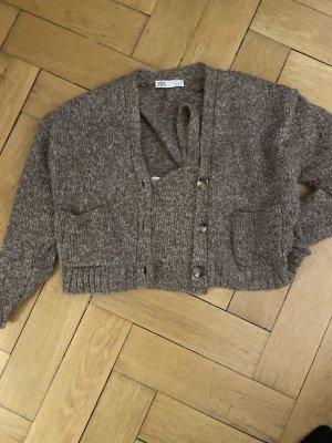 Zara Szydełkowany sweter Wielokolorowy