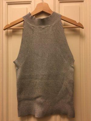 Monki T-shirts en mailles tricotées gris clair-gris