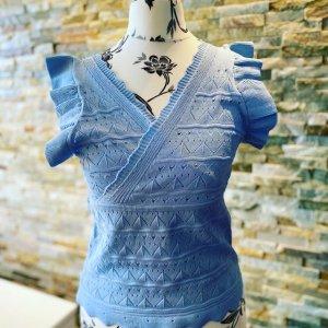 Gehaakt shirt blauw