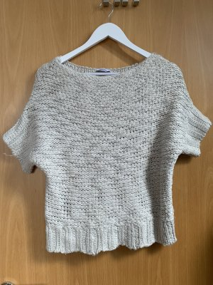 Pimkie Sweter z krótkim rękawem w kolorze białej wełny