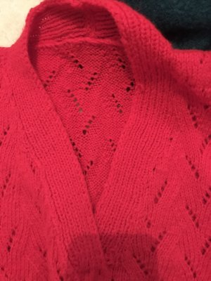 Fine Knitted Cardigan red