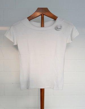 Comma T-shirts en mailles tricotées blanc