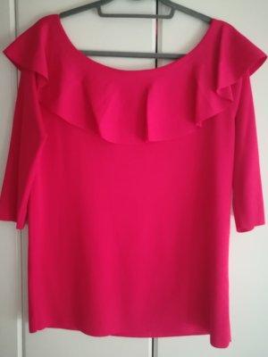 Taifun Camisa tipo Carmen rojo frambuesa-magenta Poliéster