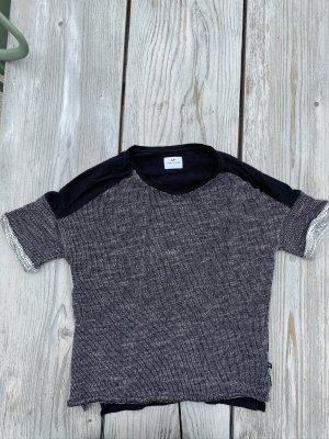 Strick Shirt schwarz weiß Loreak Mendian Gr. S