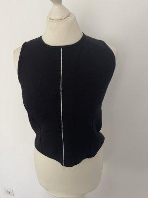 Zara Cárdigan de manga corta negro-blanco