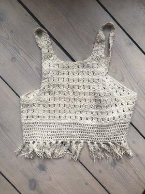 Haut en crochet blanc