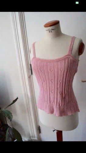 Gebreide top roze-lichtroze