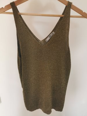 Mango Knitted Top ocher-gold-colored