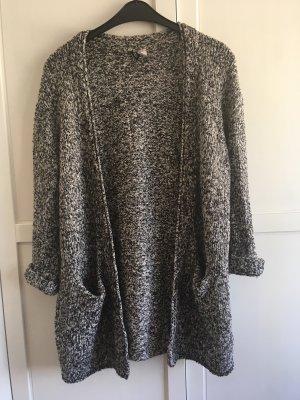 H&M Gilet tricoté noir-gris clair