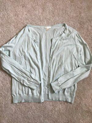H&M Smanicato lavorato a maglia verde-grigio Cotone