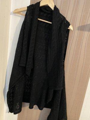 Short Sleeve Knitted Jacket black