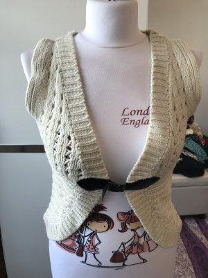 Brodway Gilet tricoté blanc cassé