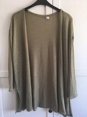 H&M Gilet tricoté gris vert