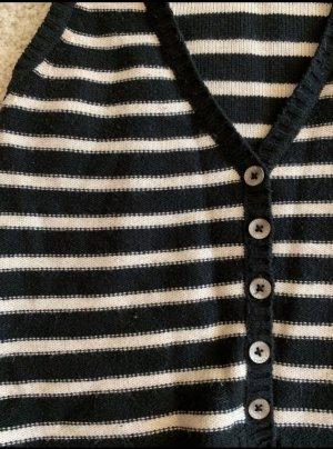Maison Scotch Gilet tricoté blanc-noir