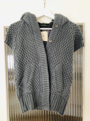 Zara Knit Chaleco de punto color plata