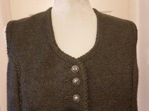 Münchner Strickmoden Knitted Vest olive green-khaki