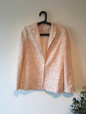 Promod Knitted Blazer white-red