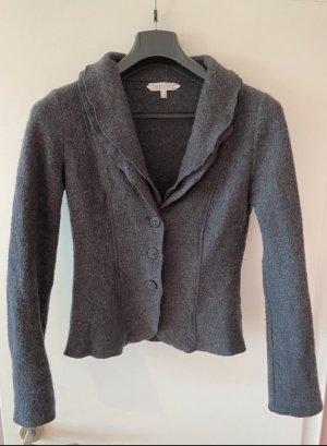 Ambiance Knitted Blazer grey