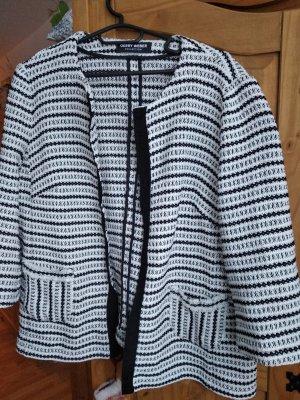 Gerry Weber Knitted Blazer white-black
