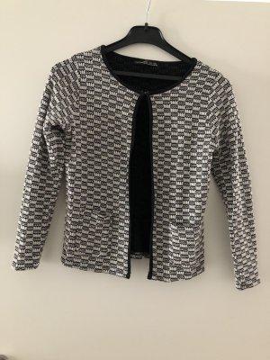 Atmosphere Knitted Blazer white-black