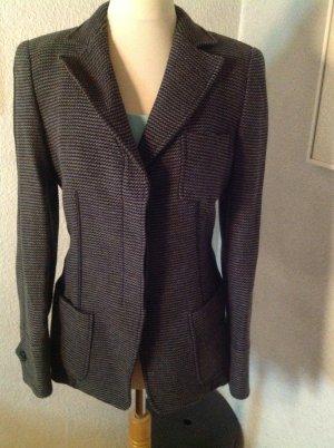 Armani Collezioni Blazer en maille tricotée bleu foncé-gris clair tissu mixte