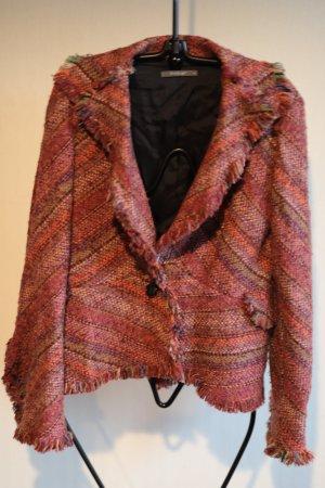 Backstage Blazer in maglia multicolore Tessuto misto