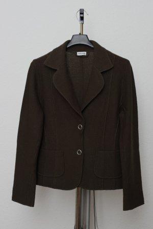 Gerry Weber Knitted Blazer dark green-green grey wool