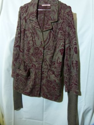 Tandem Blazer in maglia marrone chiaro-bordeaux