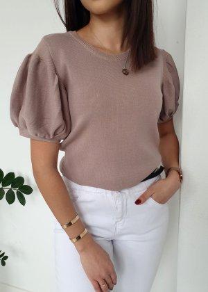 Short Sleeved Blouse beige