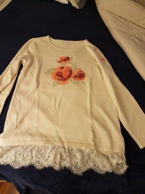 U.s. polo assn. Maglione lavorato a maglia rosso chiaro-crema