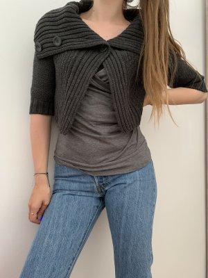 Orsay Boléro en tricot gris foncé-gris