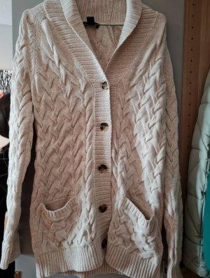 Lands' End Cardigan in maglia crema