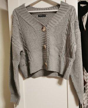 SheIn Knitted Cardigan grey