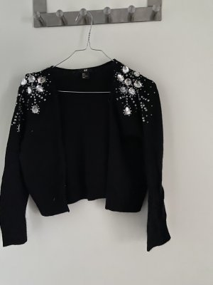 H&M Torera de punto negro-color plata