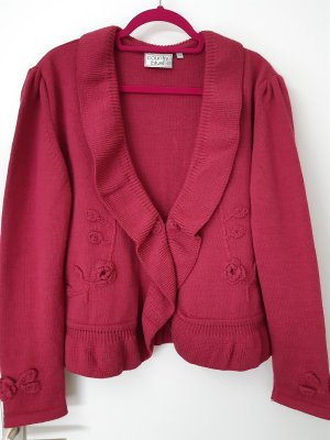 Country blue Knitted Blazer raspberry-red