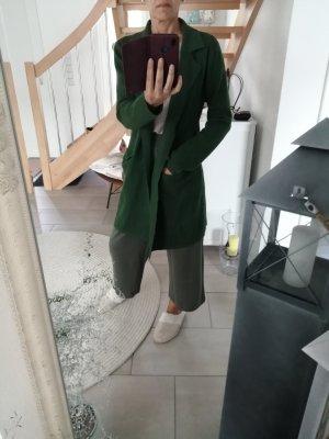 Cardigan in maglia verde-verde bosco