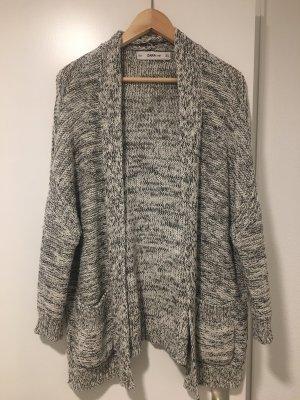 Zara Knit Crochet Cardigan black-white