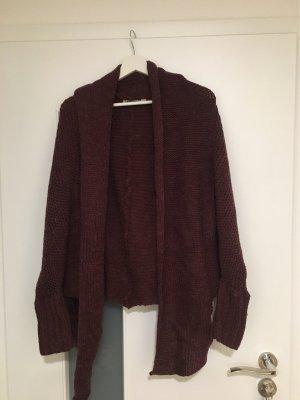 eight 2 nine Coarse Knitted Jacket bordeaux