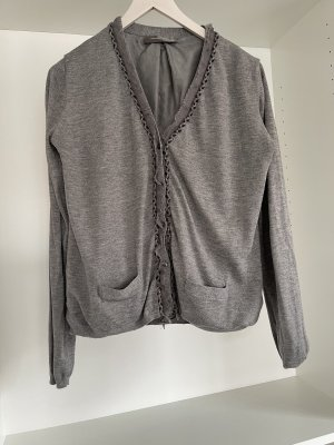 Hallhuber Donna Knitted Cardigan silver-colored
