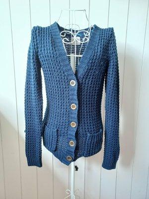 C&A Clockhouse Coarse Knitted Jacket dark blue