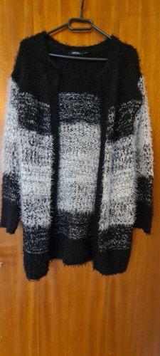Strickcardigan schwarz weiß