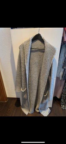 Manteau en tricot multicolore