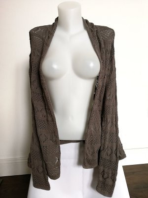 Strickcardigan von H&M in Taupe (Gr. 36)