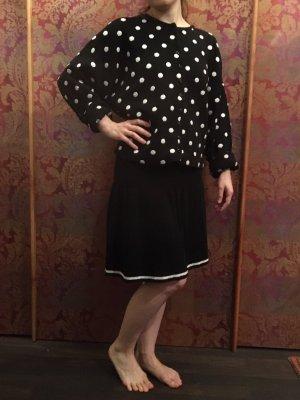 Vestito di lana nero-bianco sporco Lana