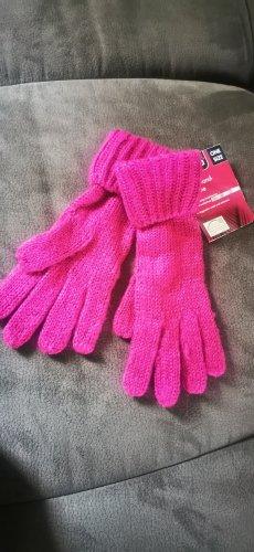 Esmara Knitted Gloves pink-magenta