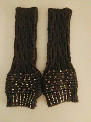Rękawiczki z dzianiny ciemnoszary