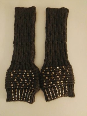 Knitted Gloves dark grey