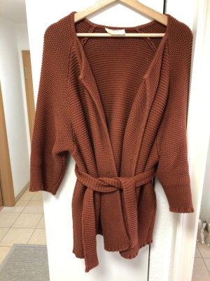 Ba&sh Veste en tricot rouille coton